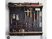 Wooden Tool holder & shelves