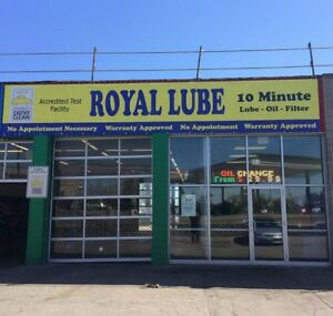 Royal Lube tire and synthetic oil change special