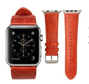 GENUINE LEATHER WRIST BAND FOR APPLE WATCH 42MM