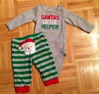 Carter's Xmas Santa outfit, 6 months