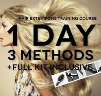 $500 HAIR EXTENSIONS TRAINING START EARNING $1500+  A WEEK TODAY