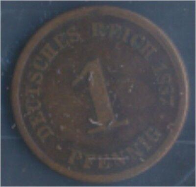 Deutsches Reich Jägernr: 1 1887 D sehr schön Bronze 1887 1 Pfennig (7849194