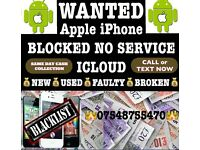 Wanted iPhone 7 7 Plus 6s 6s Plus 6 Samsung s7 s7 edge s6 s6 edge New Used Broken BL0CKED ICLOUD