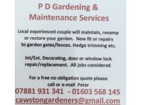 Local garden and home maintenance services
