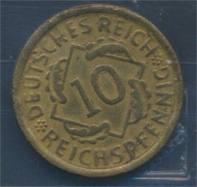Deutsches Reich Jägernr: 317 1932 E sehr schön 1932 10 Reichspfennig (7879661