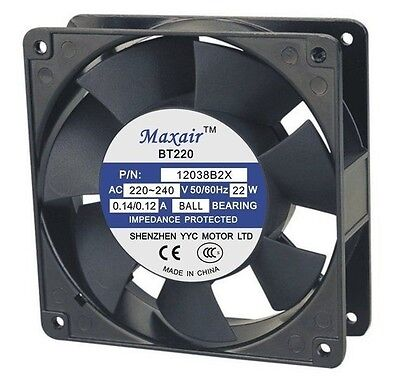 Lincoln 369378 Replacement Axial Fan 220240 Vac 4.69 X 4.69 X 1.5