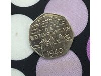 50p THE BATTLE OF BRITAIN 1940