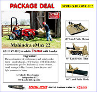 Compact tractor package Spring Blow-out!