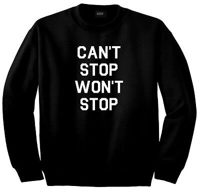 Kings of NY Cant Stop Wont Stop Printed Graphic Crewneck Sweatshirt HipHop