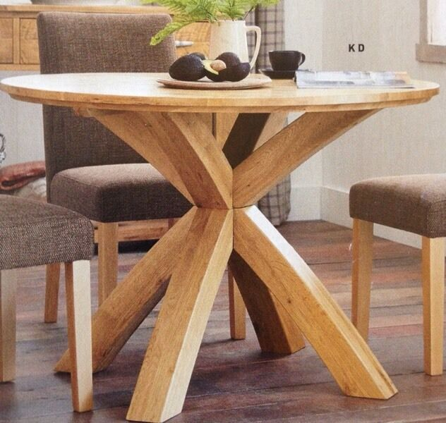 Round Oak Dining Table Part - 33: NEXT Ex Display Shropshire Round Soild Oak Dining Table. RRP £450!