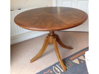 Solid wood dining table with chair