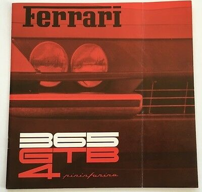 1968 1969 Ferrari 365GTB4 365GTB Original Car Sales Brochure Catalog and Letter