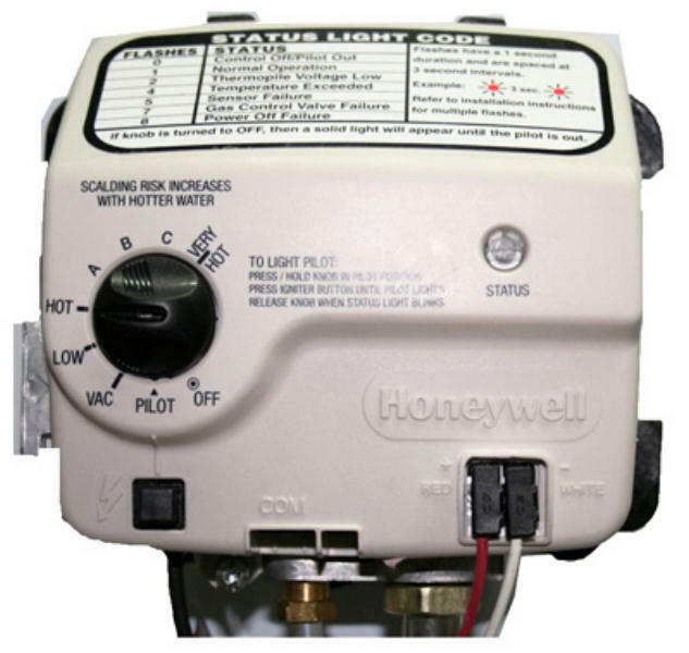Honeywell 9007884 Reliance 300 Series Electronic Water Heater Gas Control Valve
