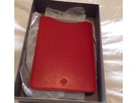 Brand new mulberry bright red goat leather iPad mini case