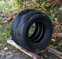 Pair of 205/75/15 all season tires 10/32nd tread. Like new!