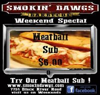 Smokin' Dawgs BBQ Weekend Special