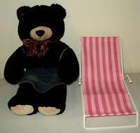 Black Growling Build a Bear, Outfit, Canvas Lawn Chair