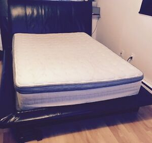 Queen size leather bed for sale!