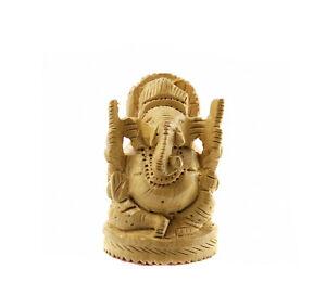 statue de ganesh elephant porte bonheur inde bois peterandclo a ebay. Black Bedroom Furniture Sets. Home Design Ideas