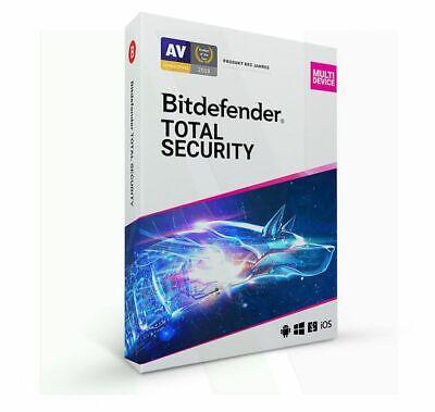 Bitdefender Total Security MULTIDEVICE 2021 5 PC 1 Jahr VPN