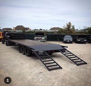 24' Jamco Tri-axle goose neck trailer