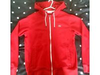 new LACOSTE hoodie size M