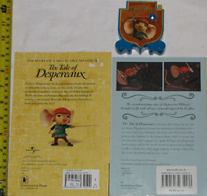 2 Tale of Despereaux Books & 1 Toy Figure London Ontario image 2
