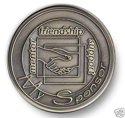 Bronze Handshake Sponsor  AA/NA 12 Step Program Recovery Coin/ Chip/Token