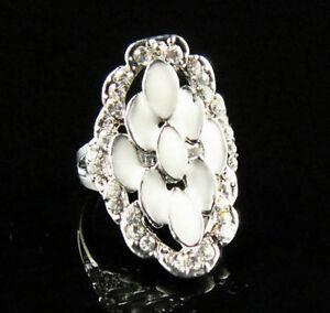 Enamel Noble Shiny diamante 18K GP Ring Size 7--NEW!!