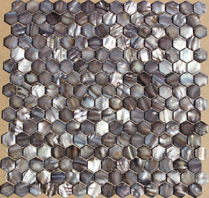 Brown White BRICK HEX SHAPE shell mother of pearl mosaic tiles Kitchener / Waterloo Kitchener Area image 6
