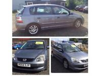 04 plate Honda Civic se 1.4 petrol grey 5 door needs key re programmed