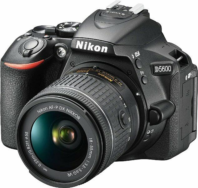 Nikon D5600 24.2MP DX-Format DSLR Camera with AF-P 18-55mm V