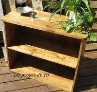 Étagère fabriquée avec du bois de palette recyclée