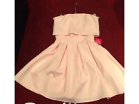 New Asos strapless Peach Dress