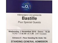2 x Bastille Tickets, O2 Arena London, Weds Nov 2