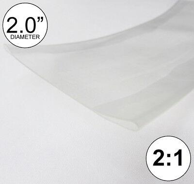 2 Id Clear Heat Shrink Tube 21 Ratio 2 Feet Polyolefin 2.0 Inchftto 50mm