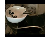Hair dressing sink and chair