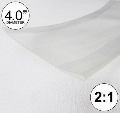4 Id Clear Heat Shrink Tube 21 Ratio 4.0 Wrap 4 Feet Inchftfootto 100mm