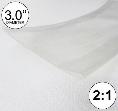 3 Id Clear Heat Shrink Tube 21 Ratio 3.0 Wrap 4 Feet Inchftfeetto 80mm