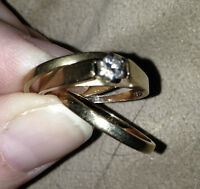 Engagement Ring with two bands