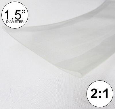 1.5 Id Clear Heat Shrink Tube 21 Ratio 1-12 Wrap 2 Feet Inchftto 40mm