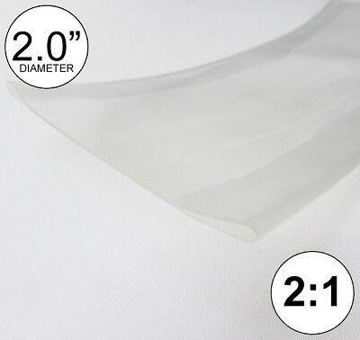 2 Id Clear Heat Shrink Tube 21 Ratio Polyolefin 2.0 Feetftto 50mm 8 Inch