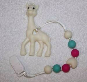 Giraffe - Silicone Teething Pacifier Clip Greenwood Joondalup Area Preview