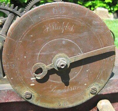 Cast Iron Antique Turret Clock Movement - F Stubbs 1888 -  Old Clock Mechanism