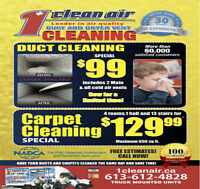 Air Duct Cleaning - 1CLEAN AIR - SPECIAL 99$