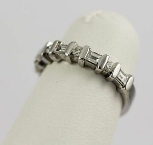14k White Gold Diamond Band (round/baguette, 0.40/0.12) #261 Oakville / Halton Region Toronto (GTA) image 3