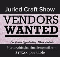 Vendors Wanted - Handmade Products Only