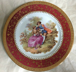 Collectable Plate Signed Fragonard From Limoges, France