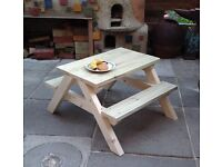 Children's Picnic Table - New - Hand made