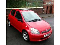 Toyota Yaris 2002 1.0L 5 Door Hatchback Only 55k Bargain!